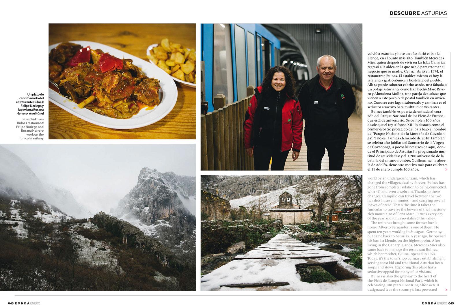 Reportaje fotos Bulnes Asturias