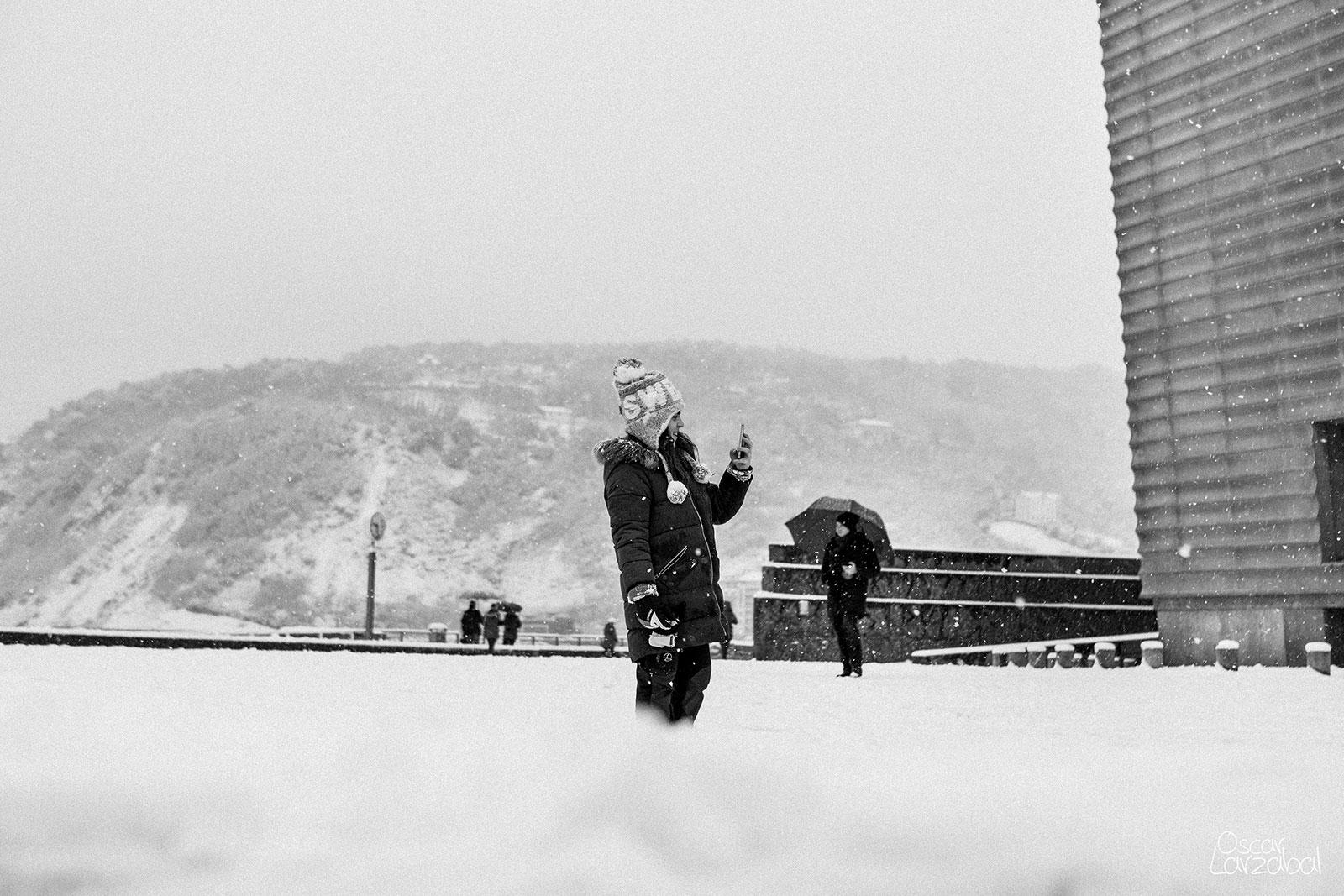 Donostia San Sebastián nevado